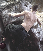 michael bouldering