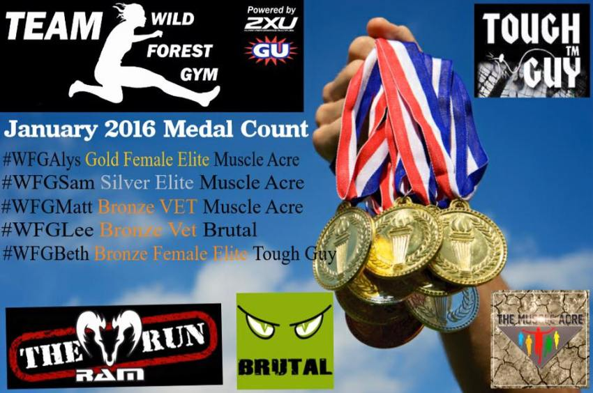 TEAM WildForestGym Podiums Jan 2016