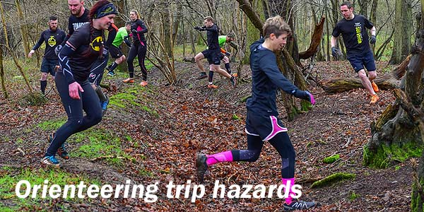 Orienteering trip hazards